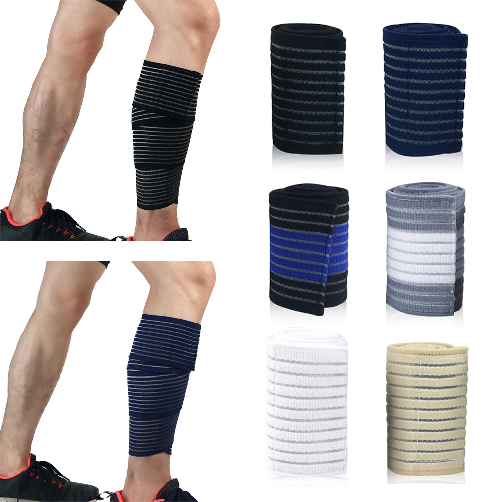 Sports Calf Leg Sleeve Adjustable Elastic Bandages Leg Protect Protective Gear
