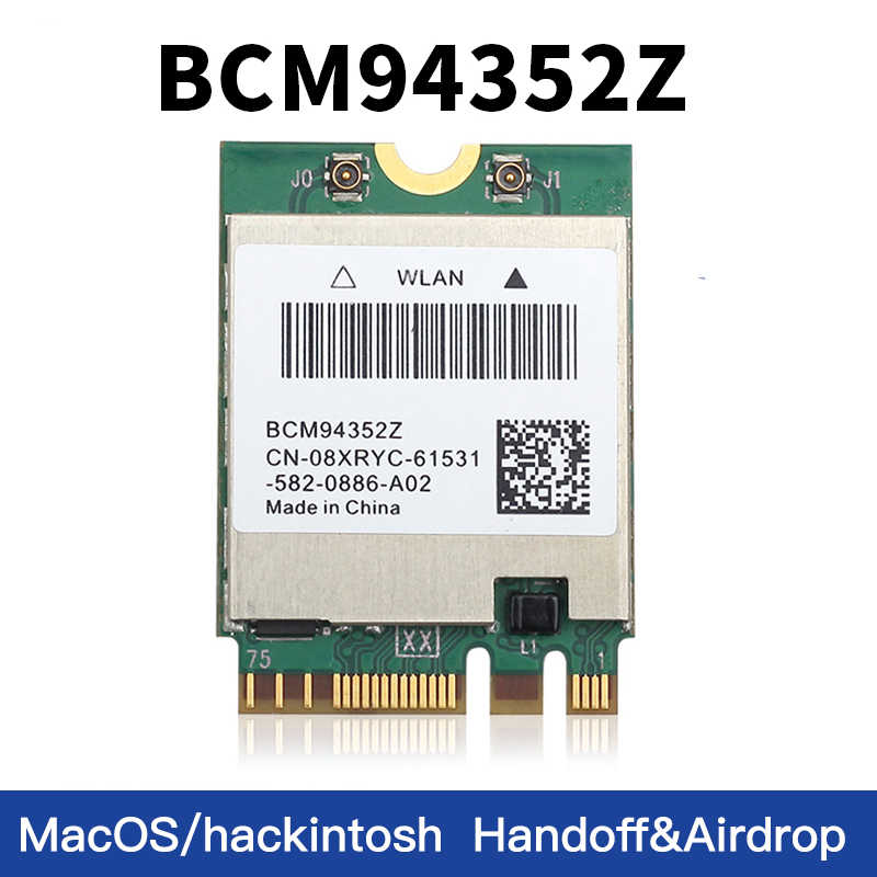 Dwuzakresowy BCM94352Z 1200 mb/s 2.4G/5Ghz Bluetooth 4.0 802.11ac M.2 WiFi karta WLAN DW1560 do laptopa MacOS Hakintosh Windows