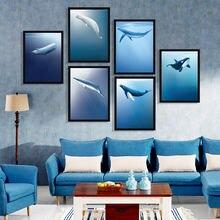 Плакаты в скандинавском стиле с морскими животными и китами