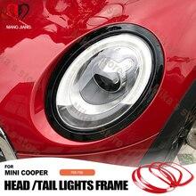 מכירה לוהטת abs עבור מיני קופר F55 F56 רכב סטיילינג אחורי זנב אורות + ראש מנורות חישוקים מקיף מכסה מכונית סטיילינג (4 יח\סט)