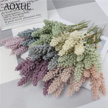 Grain spikes pequeno fresco com grama simulação buquê de flores secas pastoral casamento casa sala estar decoração