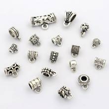 20 pçs toda a mistura tibetano prata grande buraco metal extremidade grânulo conector para fazer jóias diy pulseira colar acessórios por atacado