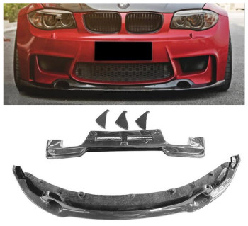Front & Rear Carbon Fiber Lip Spoiler For BMW E82 Coupe 1M 135M 2007-2017 Bumper Diffuser Car Accessories
