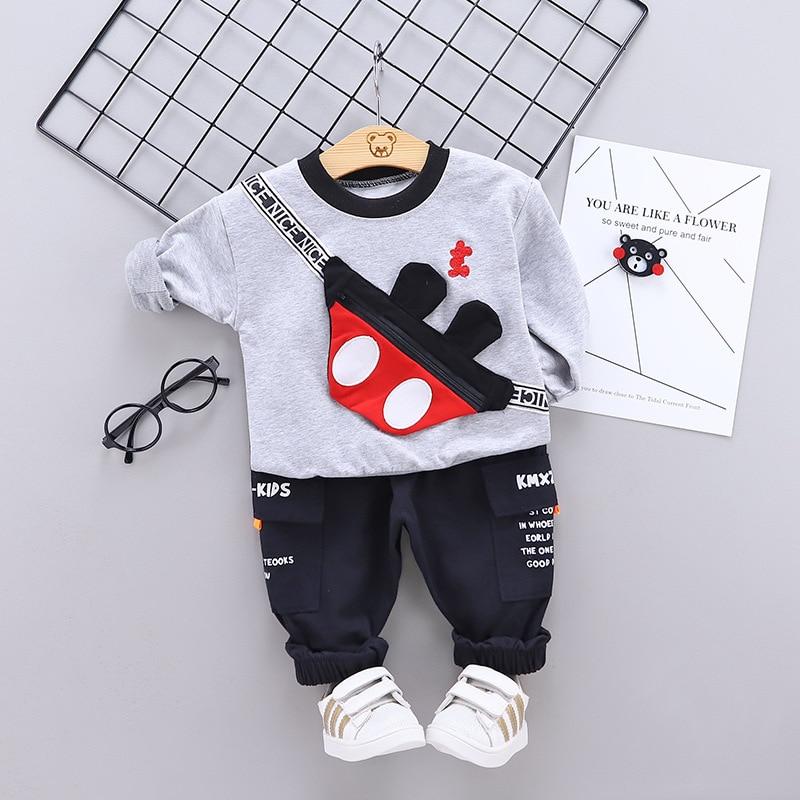 Spring Autumn Baby Boys Clothing Sets 2021 Cartoon Toddler Boys Girls Long Sleeve Shirt+Pants Suit Kids Tracksuit Clothes Set 2