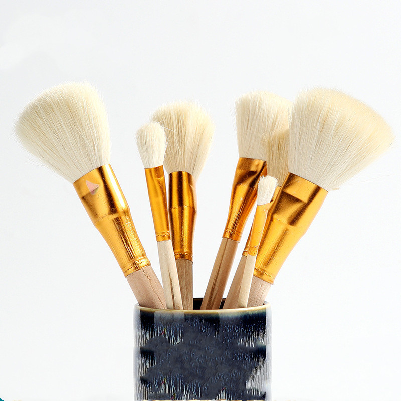 Wooden Big Head Clay Cleaning Brushes Shapers Artists Paint Brushes Pottery Clay Sculpture Carving Drawing Tools