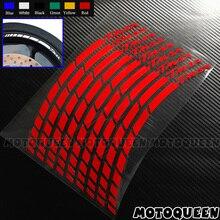 ملصقات زخرفية لعجلات الدراجات النارية ، ملصقات مخططة عاكسة مقاومة للماء لـ YAMAHA TMAX500 TMAX530 TMAX 500 530 ، 16X