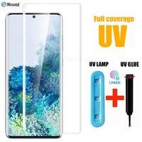 UV Gehärtetem Glas Für Samsung Galaxy S10 S9 S8 Glas auf Samsung S8 S9 S10 Plus Screen Protector Für Samsung galaxy S20Plus Ultra
