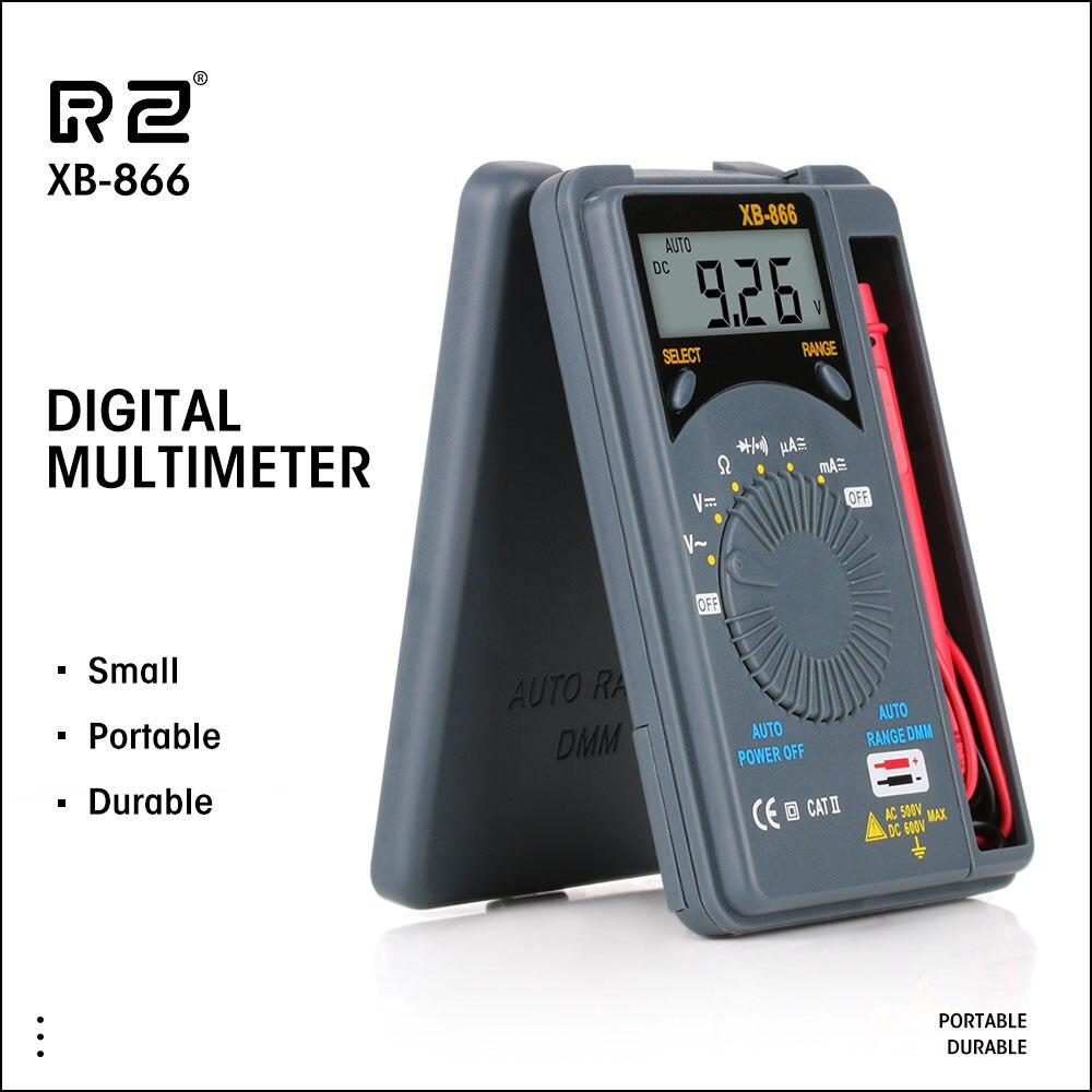 RZ Mini Multimetro Auto Gamma LCD Voltmetro del Tester Strumento AC/DC Portatile Pocket Multimetro Digitale Capacimetro Rlc Meter