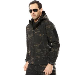 Image 5 - Military Jacket Men Winter Camouflage Tactical Waterproof Windbreaker Hooded Male Camo Coat Plus Size 5XL Bomber Army Jacket Men
