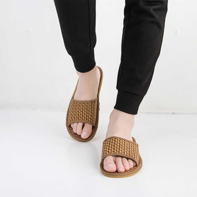 Mujer Zapatillas Mujeres Casa diapositivas casuales cómodos de las mujeres de verano de las señoras Peep Toe caña interior más zapatos de tamaño