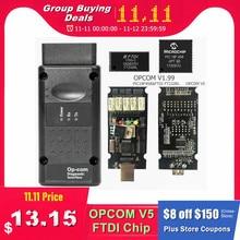 Neueste Firmware OPCOM 1,99 1,95 1,78 1,70 1,65 OBD2 KÖNNEN BUS Code Reader Für Opel OP COM OP COM Diagnose PIC18F458 FTDI Chip
