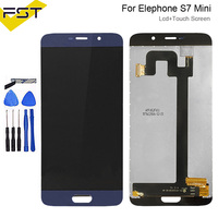 5.2''Blue For Elephone S7 mini LCD Display+Touch Screen Digitizer Assembly Repair Parts With Tools And Adhesive