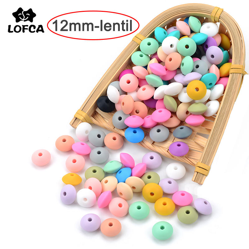 Pacifier-Chain Beads Accessorise Oral-Care Bpa-Free Food-Grade LOFCA Baby Teething 12mm Silicone