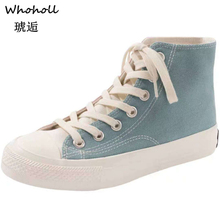 2019 Spring Autumn New Style Women Vulcanized Solid Shoes Sneakers Ladies Lace-up Casual Shoes Breathable Walking Canvas Shoes 2018 women shoes spring autumn new sports ladies shoes walking breathable sapatilhas walking shoes women sneakers platform shoe