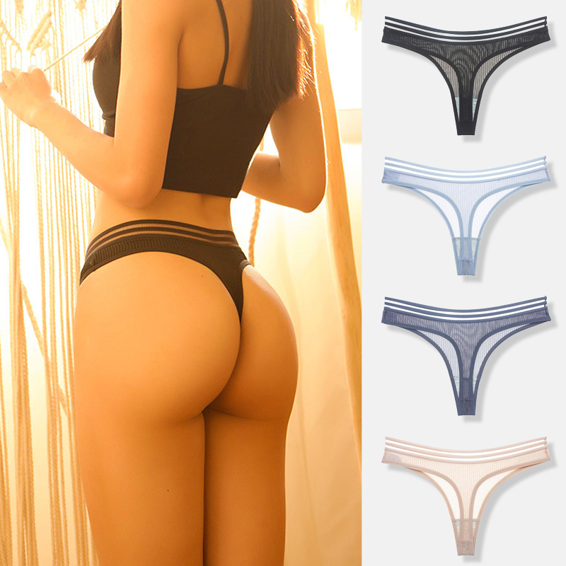 Free Shipping!Seamless Briefs For Woman Plus Size  Sexy Mesh Transparent Panties Girls Open Thongs Women's Underwear Cotton High
