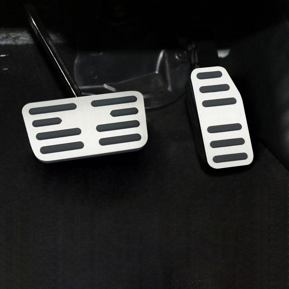 OLIKE 2 Pcs Aluminum Alloy Car Fuel Accelerator Pedal Brake Pedal Cover Kit for Honda HR-V HRV 2015-2019