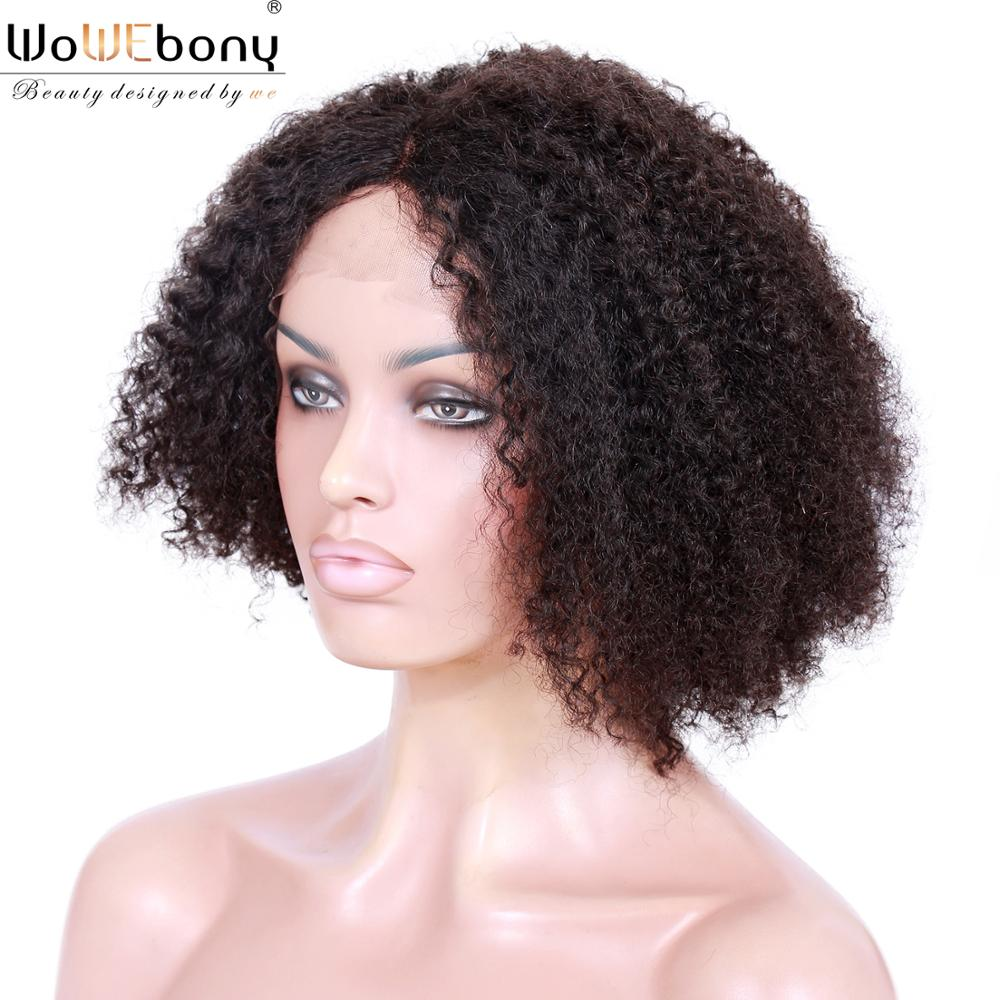 Curly Human Hair Wig 150% Short Bob Wig Silk Base 4x1 Lace Part Wig Brazilian Glueless Front Lace Wig Pre Plucked Remy For Women