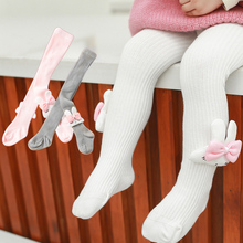 Autumn Winter Baby Girl Tights Rabbit Ears Knitted Infant Toddler Baby Stockings Cute Bow Kids Pantyhose