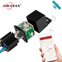 Car Relay GPS Tracker Car MV720 Shock Alarm Vehicle GSM GPS Locator Remote Control Anti theft Monitoring Cut Off Oil Fuel Power|GPS Trackers| |  -