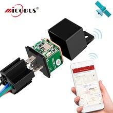 자동차 릴레이 GPS 트래커 자동차 MV720 충격 경보 차량 GSM GPS 로케이터 원격 제어 도난 방지 모니터링 오일 연료 전력 차단