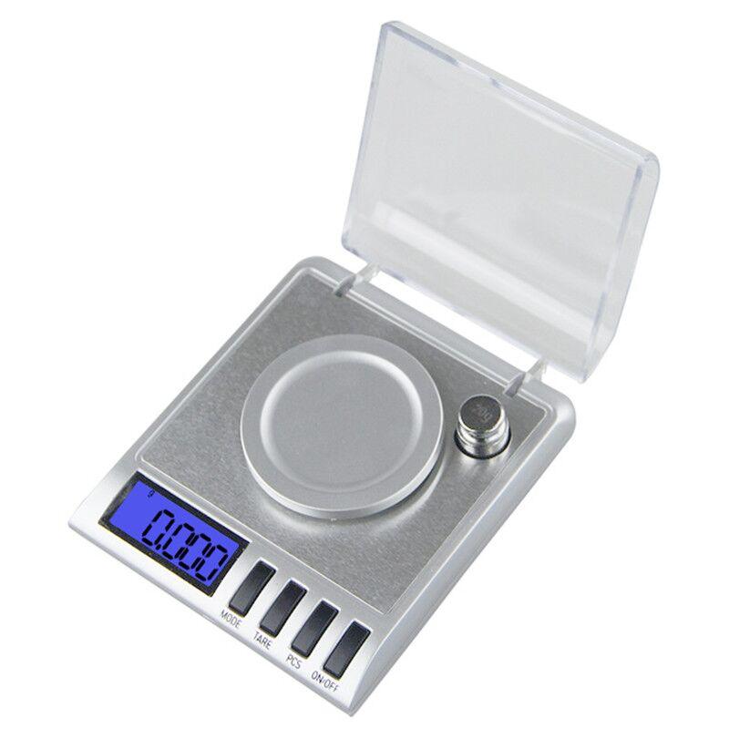 Aletler'ten Tartılar'de Mini cep tipi kuyumcu terazisi 50g x 0.001g Yüksek Hassasiyetli Dijital Tartı Araçları Tıbbi Laboratuvar Takı Dijital LCD Elektronik title=