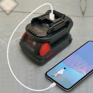 Image 2 - DM18M Battery Converter Adapter USB Charger For Milwakee 18V M18 For Dewalt 20V For Makita 18V bl1830 Li ion Battery