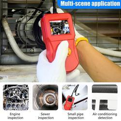 5.5 Mm Inspeksi Endoskop Kamera Tahan Air IP67 Serbaguna Saluran Pembuangan Pipa Detector 6 LED 5.5 Mm dengan 2.4 Inci IPS