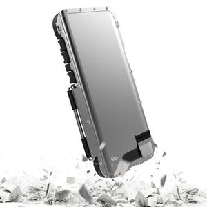Image 5 - R JUST, odporna na wstrząsy etui do Samsung Galaxy uwaga telefon etui z klapką aluminium Metal król Iron Man 360 etui ochronne etui na telefon