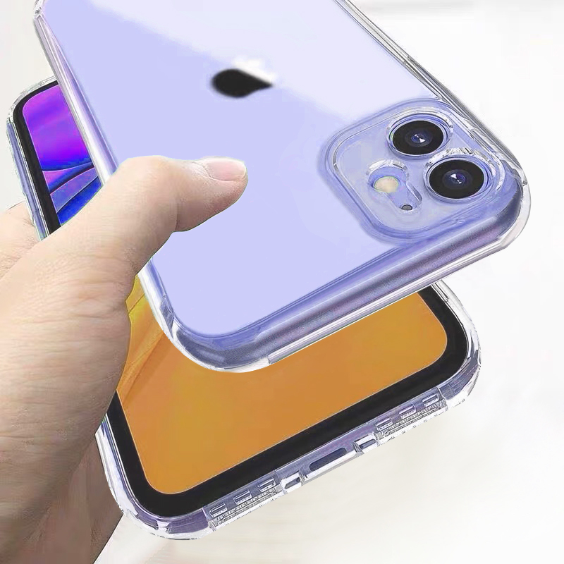 shockproof Clear Silicone Phone Case For iPhone 11 7 Soft Back Cover On For iphone X XR 11Pro XS Max 8 7 6 6S Plus SE 2020 Case