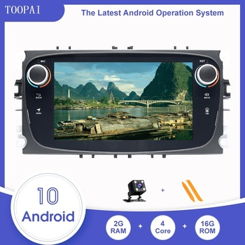 TOOPAI Car Multimedia Player For Ford Focus 2 3 mk2 Mondeo 4 Kuga Fiesta S-MAX C-MAX Android 10 Media SWC GPS Navigation image