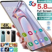 Global Version Mate40 Pro 12+512GB Smartphone HD Full Screen Android 10 4800mAh 5.8