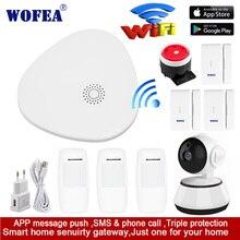 Wofea WIFI RF Gataway אבטחת בית אזעקה מערכת DIY ערכת IOS ואנדרואיד Smartphone App חכם מארח V10
