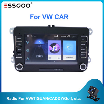 Essgoo 7'' Autoradio 2din Android Car Radio Gps Navigation Bluetooth Wifi For Volkswagen For Vw For Skoda For Golf For Polo Cars image