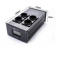 MATIHUR e TP40E Audio Noise AC Power Filter Power Conditioner Power Purifier Surge Protection with EU Outlets Power Strip