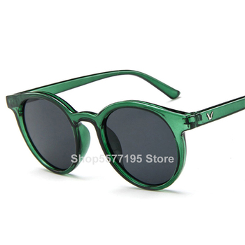 2020 New Round Frame Sunglasses Women Retro Brand Designer Pink Green Yellow Sun Glasses Female Fashion Outdoor Driving