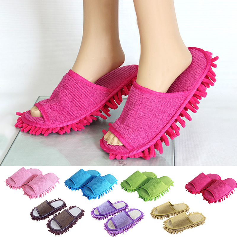 2PC/Set Lazy Cleaning Foot Cleaner Shoe Mop Slipper Soft Bathroom Floor Dusting Cover Home Cleanning Tools