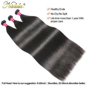 Image 3 - Nadula Hair mechones de cabello liso de 28 pulgadas y 30 pulgadas, 3 mechones/4 mechones, cabello humano liso Remy