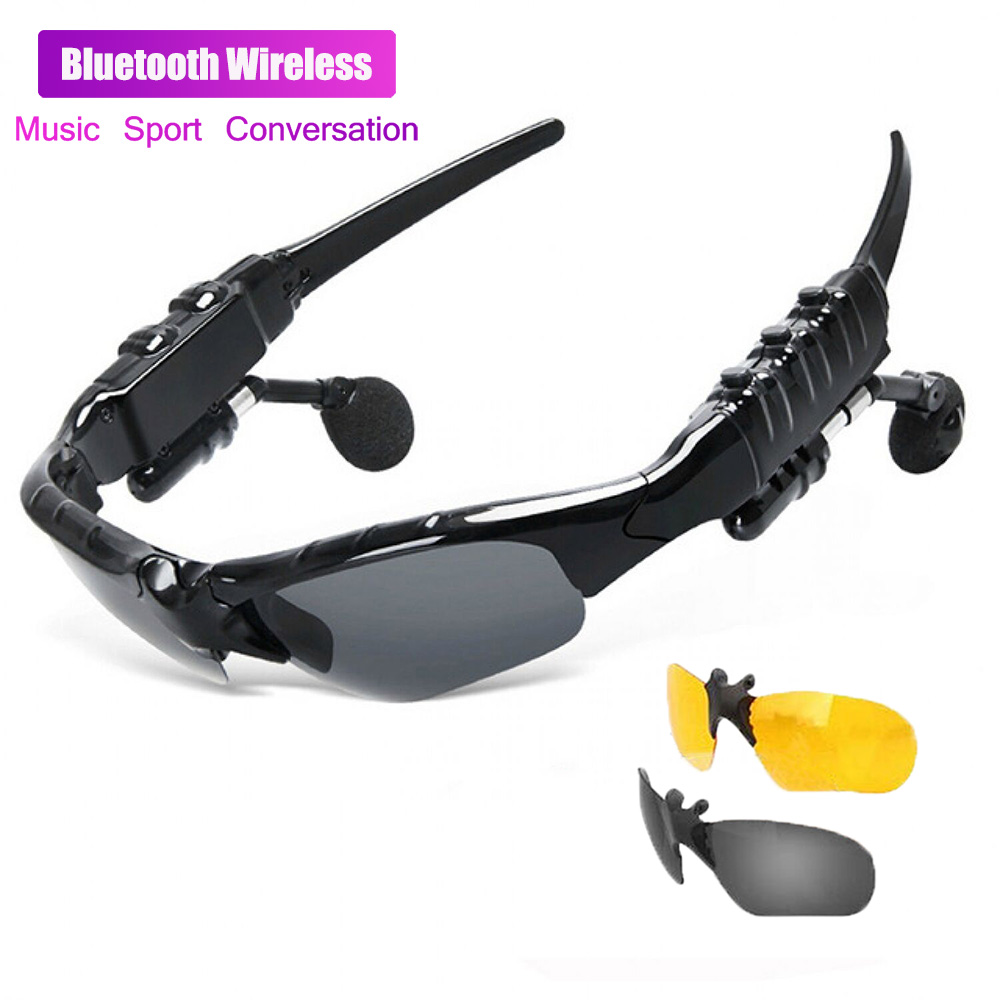 Lunettes de vision nocturne pour hommes   Stéréo intelligente, lunettes de vision nocturne, lunettes polarisantes, Bluetooth multifonction, voiture, mains libres pour lextérieur