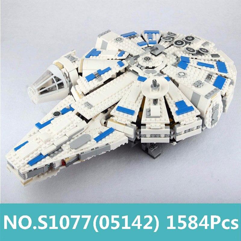 Oyuncaklar ve Hobi Ürünleri'ten Bloklar'de Kral Tuğla Millennium Star Wars Gemi Falcon Lepinblocks Yapı Taşları 05142 75212 Oyuncaklar Yıldız Ile Gemi Şekil Çocuk Hediye'da  Grup 1