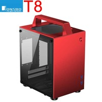 Jonsbo T8 ITX portable MINI aluminum chassis Side transparent Small computer handle case