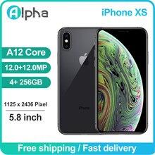 Apple-teléfono inteligente iPhone XS usado, 98% Original, desbloqueado, identificación facial, 4GB de RAM, 64/256GB de ROM, iOS, A12, Hexa Core