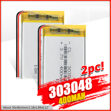 303048 3.7V 400mAH 303050 PLIB polymer lithium ion / Li-ion Rechargeable battery for GPS mp3 mp4 mp5 dvd Remote Control E-book