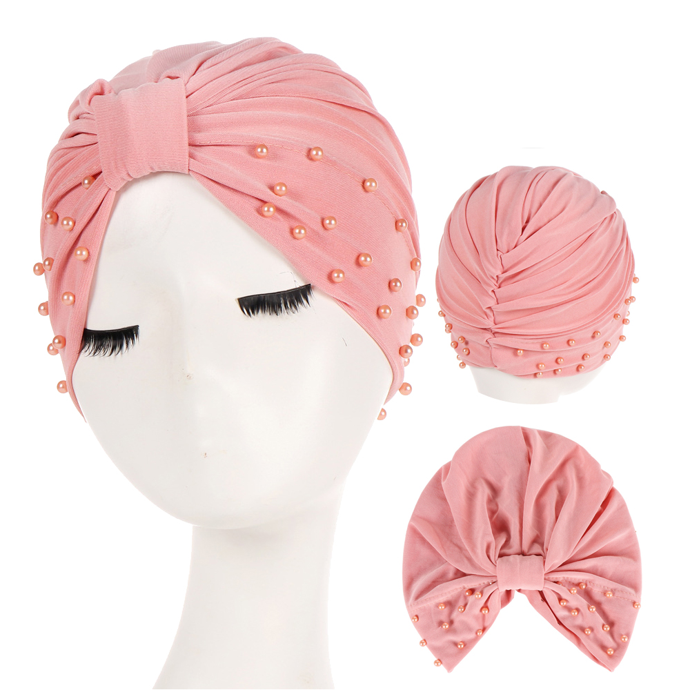 High Quality Cotton Linen Pearl Inner Hijabs For Women Muslim Turban Caps Indian Wrap Hijab Bonnet Ready To Wear Islamic Goods