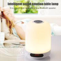 Multi functional Bluetooth Speaker FM Radio Charging Bedside Night Light Support AUX GDeals