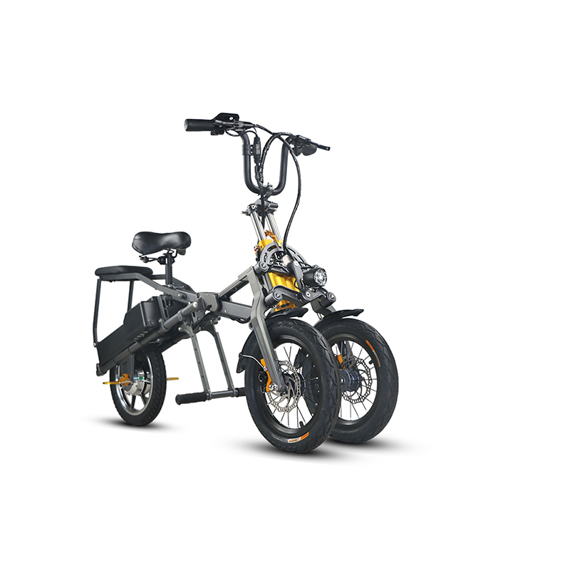 JX003 Chinese 48V 350W folding scooter electric tricycle 5