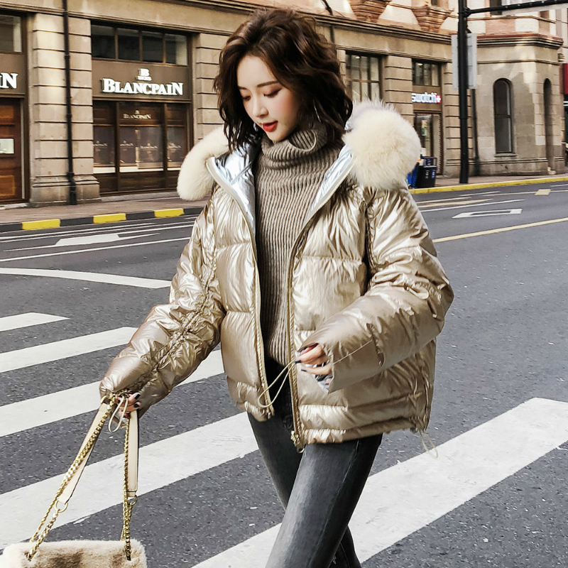 Winter Down Jacket Women Thick Warm Down Coats Female Short Down Parka Real Fox Fur Hooded Clothes Chaqueta Mujer LWL1348