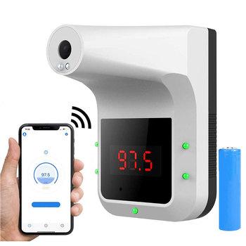 Ścienny termometr do pomiaru temperatury ciała Bluetooth bezdotykowy cyfrowy czoło gorączka termometr zestaw głośnomówiący termometr z alarmem gauge Gun nowy tanie i dobre opinie BSIDE Termometr na podczerwień NONE CN (pochodzenie) LCD Digital Thermometer Gospodarstwo domowe Brak do zawieszenia na ścianie