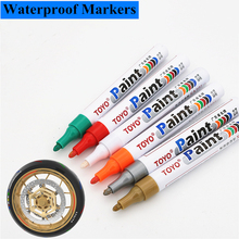 1pcs waterproof color markers durable white pneumatic rubber fabric metal paint permanent face  marker pen