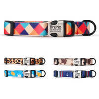Personalized Dog Collar Nylon Pet Dog Tag Collar Custom Puppy Cat Nameplate ID Collars For Small Medium Large Dogs Engraved