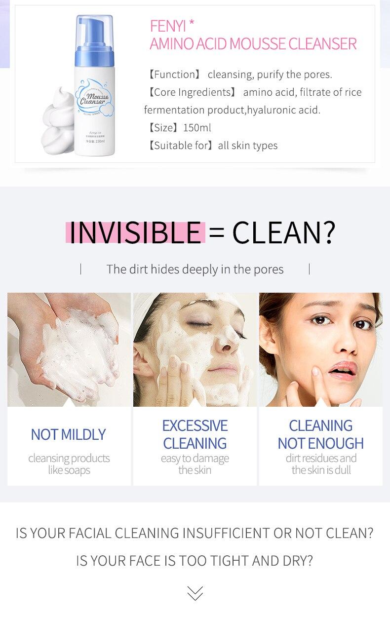LAIKOU Mousse de Limpeza Aminoácido Facial Limpador